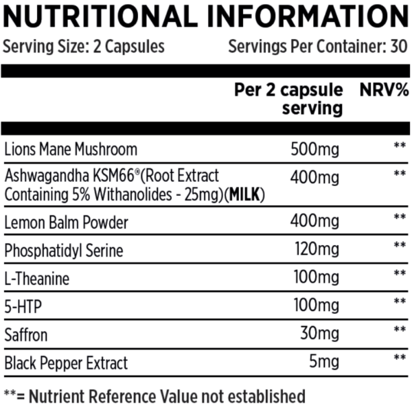 Chill Pill Nutritional Information
