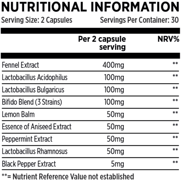 Pro-50-Fusion Nutritional Information